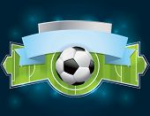 image of football  - A vector illustration of a soccer  - JPG