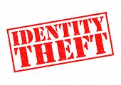picture of theft  - IDENTITY THEFT red Rubber Stamp over a white background - JPG