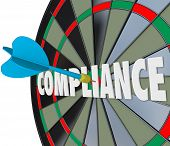 Compliance Dart Board Aim Follow Rules Legal Regulations