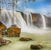 Beautiful Dray Nur waterfall in Vietnam