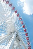Ferris Wheel In Navy Pier, Chicago