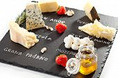 Cheese Plate with Strawberries, Nuts and Honey