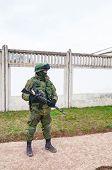 Russian Soldier In Perevalne, Crimea