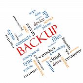 Backup Word Cloud Concept Angled