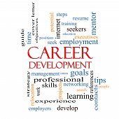 Career Development Word Cloud Concept