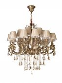 Vintage Chandelier isolated with clipping path included