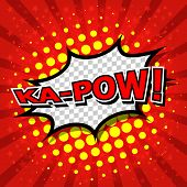 Ka-Pow! Comic Speech Bubble, Cartoon