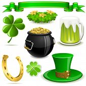 Saint Patrick'??s Day symbols set  isolated on white background. For eps file look id:47730736