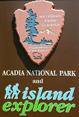 Acadia National Park sign in Maine