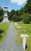 Civil War Memorial and cemetery in historic Bar Harbor, Maine