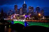 MELBOURNE - FEBRUARY 22: Melbourne's White Night attracted more than 500,000 visitors to the city ce