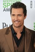 SANTA  MONICA - MAR 1: Matthew McConaughey at the 2014 Film Independent Spirit Awards at Santa Monic