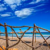 stock photo of tomas  - Menorca Platja Sant Tomas in Es Mitjorn Gran at Balearic islands of Spain - JPG