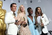 LOS ANGELES - MAR 2:  Matthew McConaughey, Cate Blanchett, Lupita Nyong'o, Jared Leto at the 86th Ac