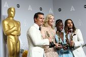 LOS ANGELES - MAR 2:  Matthew McConaughey, Cate Blanchett, Lupita Nyong'o, Jared Leto at the 86th Academy Awards at Dolby Theater, Hollywood & Highland on March 2, 2014 in Los Angeles, CA