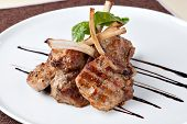 Roasted Lamb Chops on Tomato Sauce