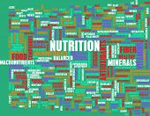 Nutrition Abstract as a Word Cloud Art
