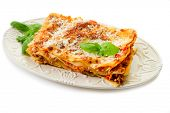 italian lasagne  with ragout