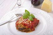 parmigiana traditional italian recipe with eggplant tomato and mozzarella