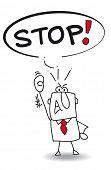 A man says stop.