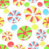 Colorful pattern with abstract candies
