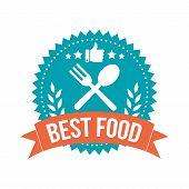 Simple Best Food Banner Badge