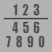 vector stone carved numbers font