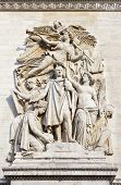 picture of charles de gaulle  - The beautiful sculptural detail on the Arc de Triomphe in Paris France - JPG