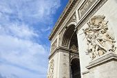 foto of charles de gaulle  - The historic Arc de Triomphe in Paris France - JPG