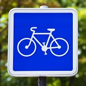 Cycling Allowed Sign