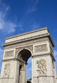 stock photo of charles de gaulle  - The magnificent Arc de Triomphe in Paris France - JPG