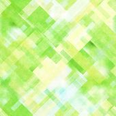 art abstract geometric diagonal seamless pattern background in green, yellow and white colors