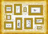 Golden Frames With Floral Ornament