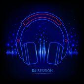 Light Neon Headphones