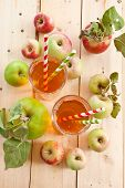 Apple Juice And Fresh Apples