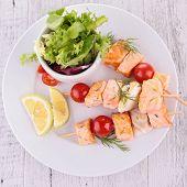 salmon and tomato