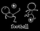 Illustration of stick men playing football