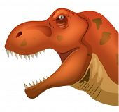 stock photo of tyrannosaurus  - Illustration of a closeup of tyrannosaurus head - JPG