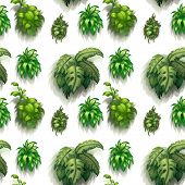 Illustration of seamless green plants