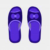 Vector modern flippers on gray bakground.