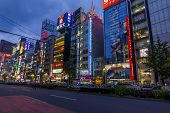 Colorful Banners And Neons In Shinjuku District, Tokyo, Japan.