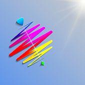modern color whirligig