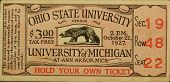 OSU Vs Mich Football Ticket