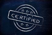 Stamp-like Design With The Word Certified