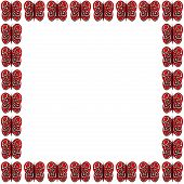 Red and White Butterfly Frame