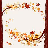 Autumnal background with copy space. Raster version.