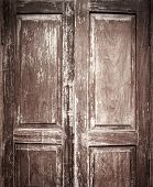 Old Door With Vignette