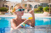 Girl in pool bar