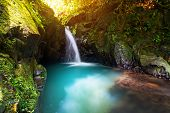 Paradise waterfall in the jungle of Thailand