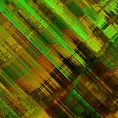 art abstract colorful diagonal lines pattern; acrylic background in green, brown and gold colors